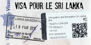 visa pour le Sri Lanka gratuit